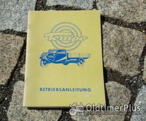 Betriebsanleitung Tempo Hanseat 1951 Dreirad Lieferwagen Foto 1