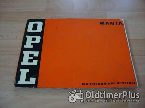 orig. Betriebsanleitung Opel Manta A 1973 Foto 1