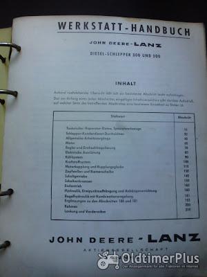 Werkstatt Handbuch Nr. 7132 für John Deere Lanz Dieselschlepper Foto 2
