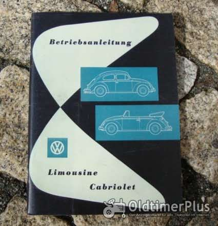 Betriebsanleitung VW 1200 Käfer Limousine / Cabriolet 1958 Foto 1