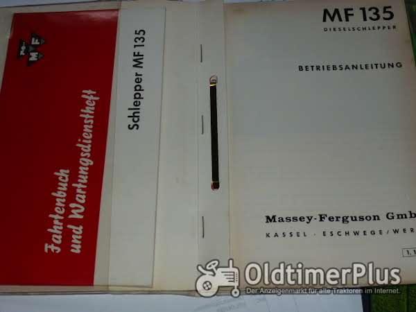 Betriebsanleitung MF 135 Foto 1