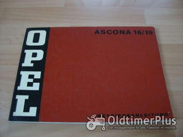 orig. Betriebsanleitung Opel Ascona A 1971 Foto 1