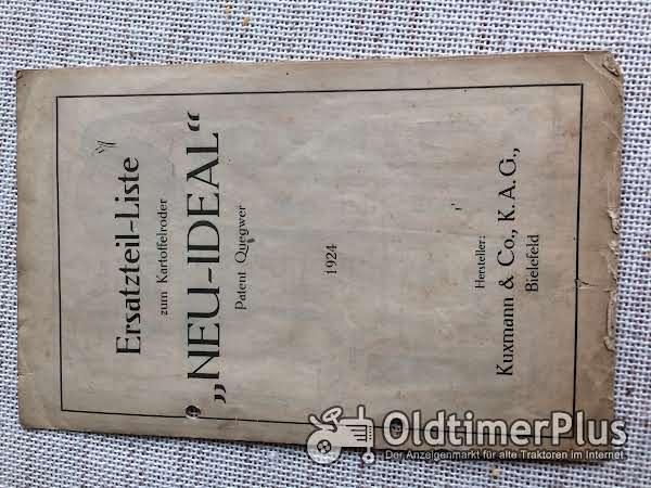 Ersatzteilliste kartoffelroder ' Neu-Ideal ' 1924 kuxmann Foto 1