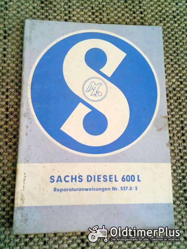 Sachs Diesel 600 L Reparaturanweisungen Nr. 537.8/3 Foto 1