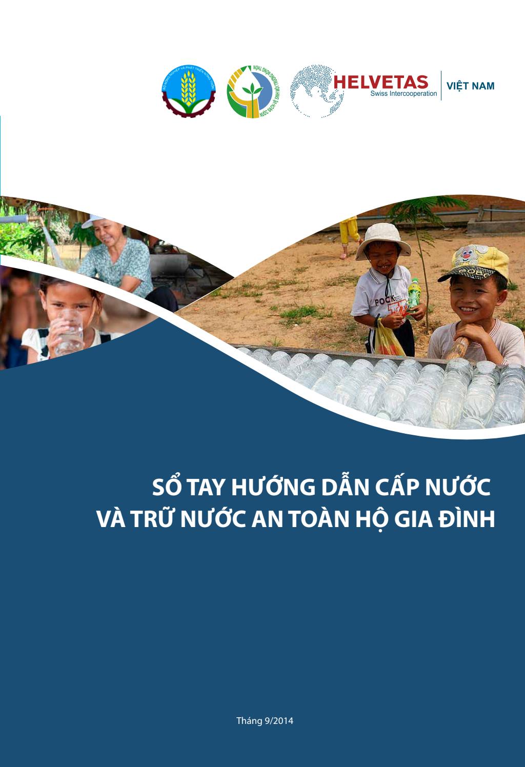 Sổ tay hướng dẫn cấp nước và trữ nước an toàn hộ gia đình