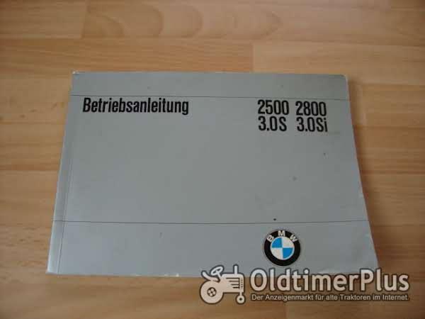 orig. Betriebsanleitung BMW 2500 2800 3.0S 3.0Si 1972 Foto 1