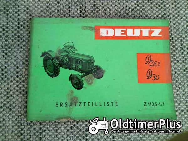 Deutz D25.2 D30 Ersatzteilliste Z 1125-1/1 Foto 1