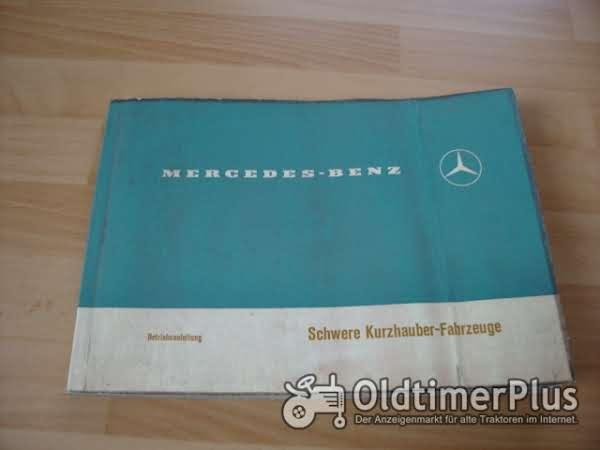 orig. Betriebsanleitung Mercedes Schwerer Kurzhauber 1972 mit OM355 Foto 1