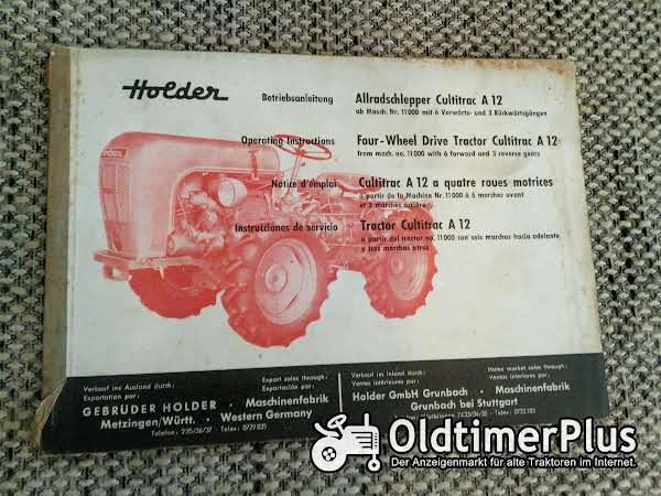 Holder Cultitrac A 12 Allradschlepper Betriebsanleitung Foto 1