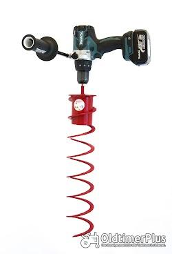 Verschiedene größen Erdbohrer für den Akkuschrauberantrieb  von 40mm bis 200mm Foto 2