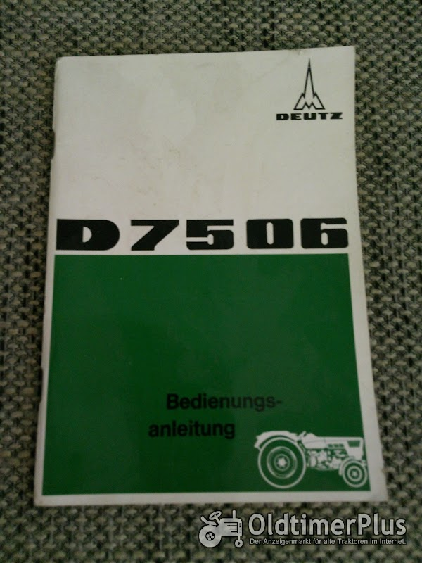 Deutz D 7506 Bedienungsanleitung Foto 1
