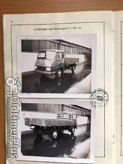 Hanomag F30 Hochlader und Pritsche mit Kipper Foto 12