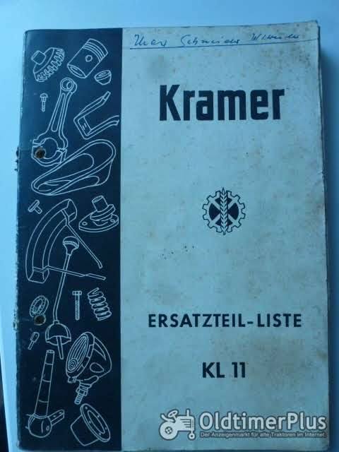 Ersatzteilliste Kramer K11 Foto 1