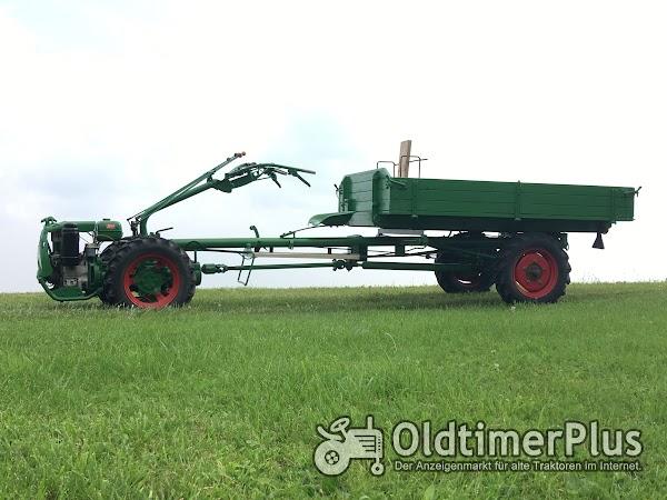 AGRIA Hatz Agria 2800 Hatz 12 PS mit Völker Triebachs-3Seit-Kipper-Anhänger Foto 1