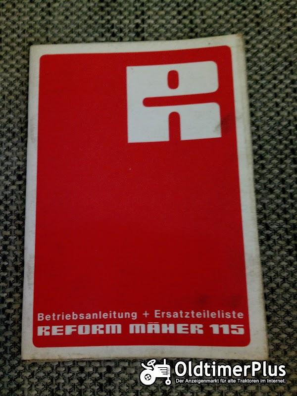 Reform Mäher 115 Betriebsanleitung Ersatzteilliste Foto 1