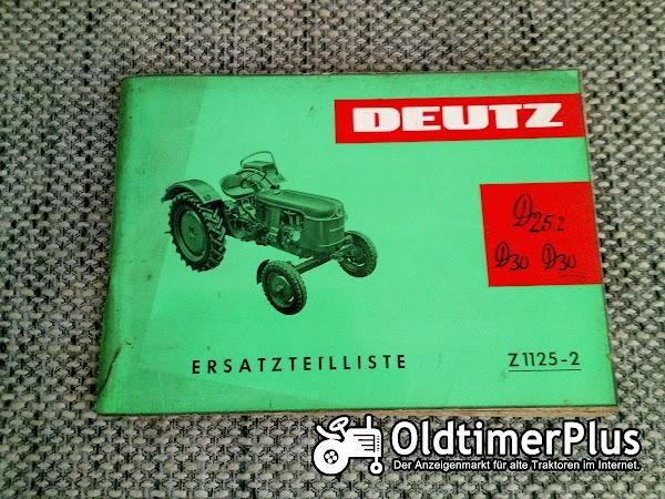 Deutz D25.2 D30 D30S Ersatzteilliste Z 1125-2 Foto 1