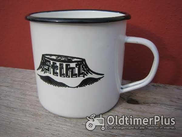 Emaile Tasse mit Stihl Logo Foto 1