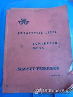 Literatur Ersatzteil-Liste MF 25 aus 8/61