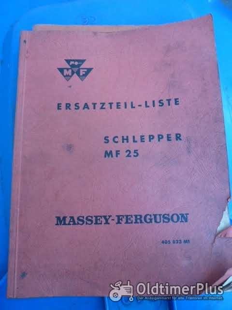Ersatzteil-Liste MF 25 aus 8/61 Foto 1