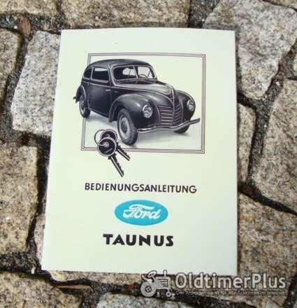 Betriebsanleitung Ford Taunus Standard 1949 Buckeltaunus Foto 1