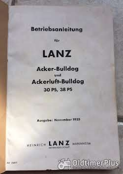 Lanz Bulldog Betriebsanleitung für 30 und 38 PS Acker und Ackerluft-Bulldog Foto 2