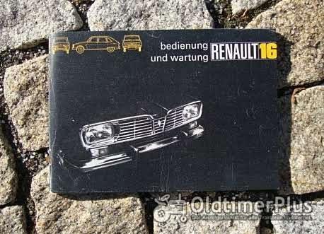 Betriebsanleitung Renault R16 / R16 TS 1972 Foto 1