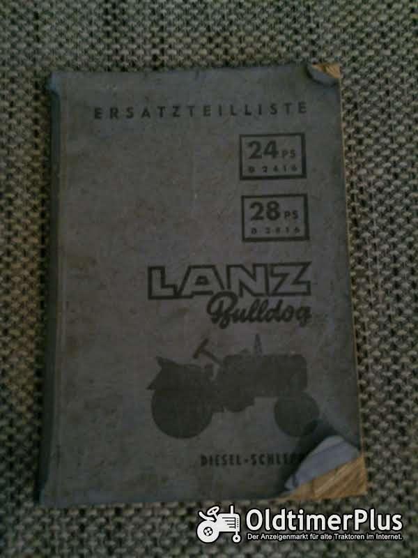 LANZ Bulldog D2416 D2816 Ersatzteilliste Foto 1
