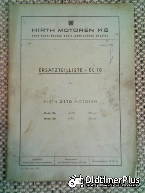 Hirth Motoren 06 und 08 Ersatzteilliste EL 18 Foto 1