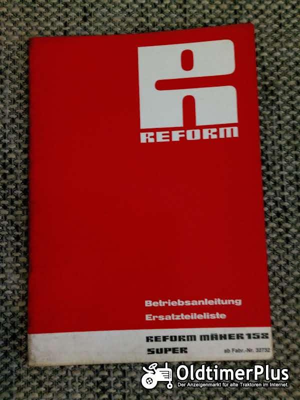 Reform Mäher 153 Super Betriebsanleitung Ersatzteilliste Foto 1