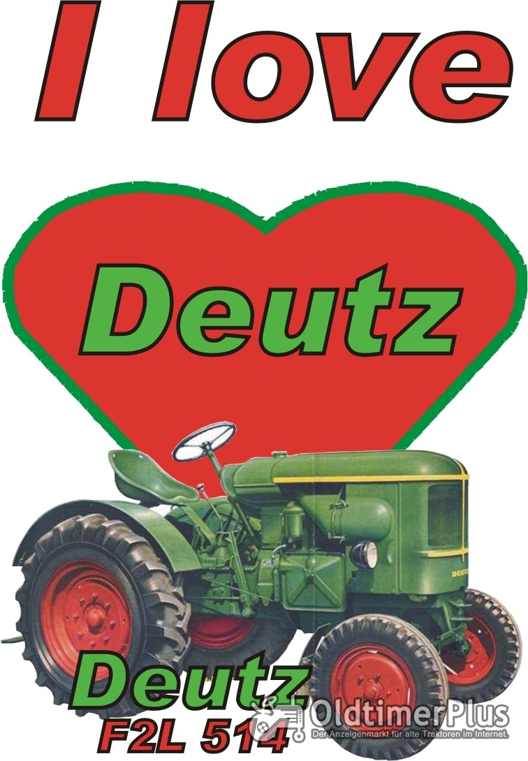 I love Deutz F2L 514 T-Shirt Foto 1