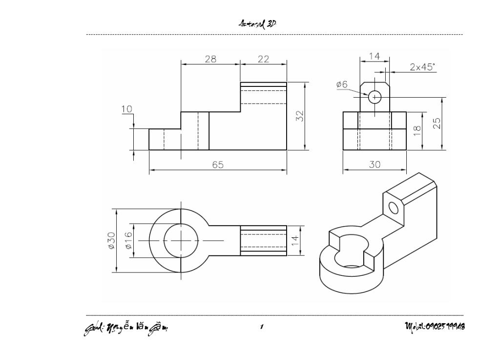 Bài tập Autocad 3D