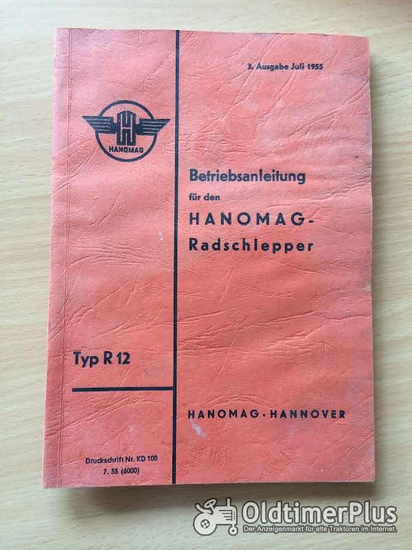 Hanomag R12 Betriebsanleitung Foto 1