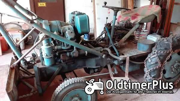 Eigenbau Diesel Traktor mit Schiebeschild, Schaufel & Stabler Foto 1