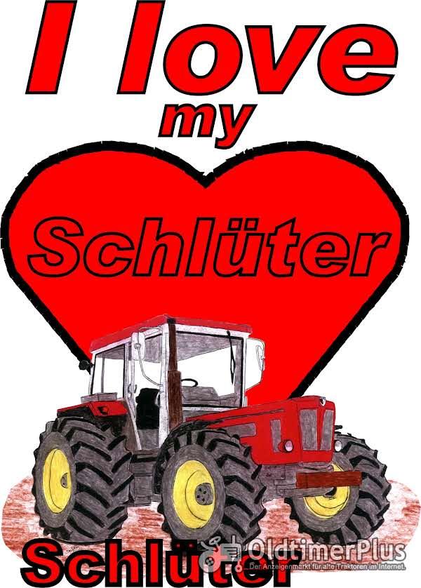I love Schlüter,gemalt T-Shirt Foto 1