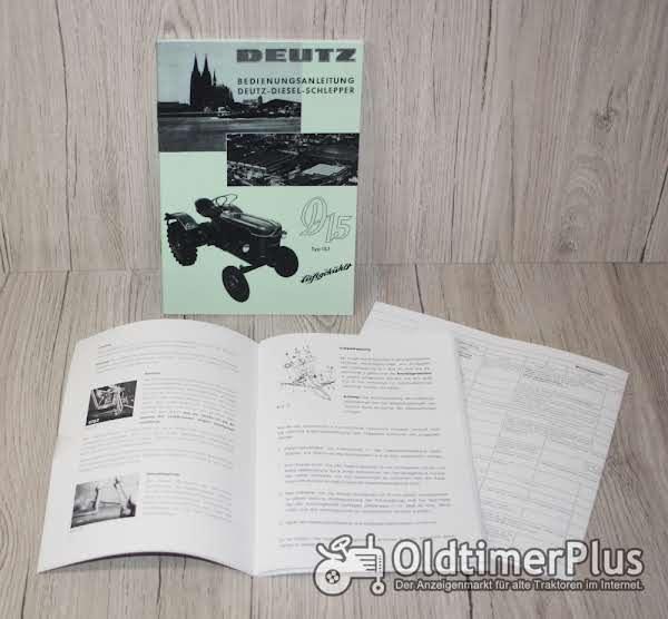 Deutz Bedienungsanleitung Traktor D15 Typ15.1N ab 7422/201 (H1110-2) Foto 1