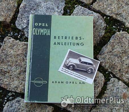 Betriebsanleitung Opel Olympia 39 1939 Foto 1
