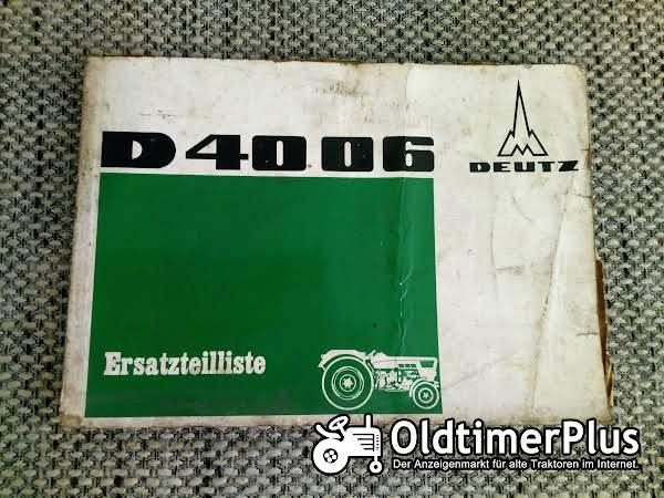 Deutz D4006 Ersatzteilliste Foto 1