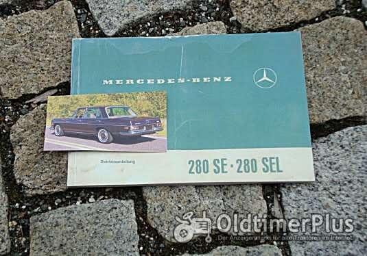 Betriebsanleitung Mercedes W108 280 SE SEL 1970 Foto 1