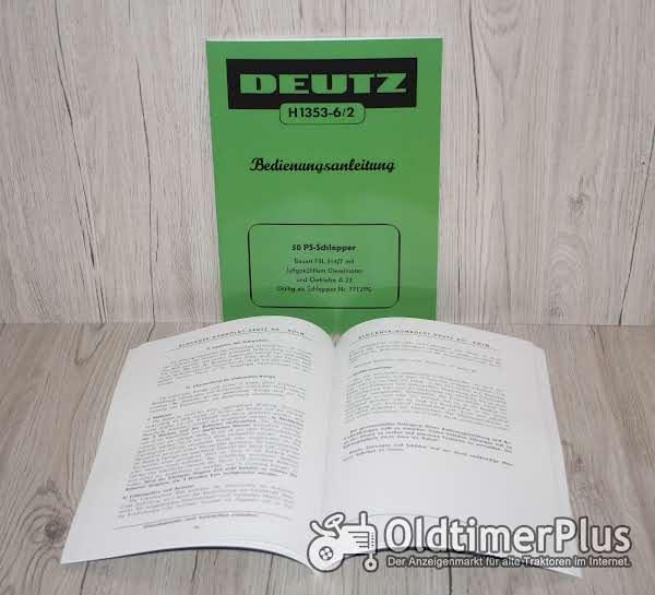 Deutz Bedienungsanleitung Traktor F3L 514/7 50 PS  (H1353-6/2) Foto 1