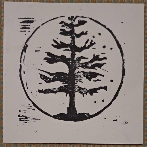 Rustic and beautiful stylistic representation of a tree stripped bare
