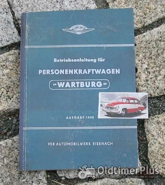 Betriebsanleitung Wartburg 311 Limousine Sport Coupe Cabriolet 1959 Foto 1