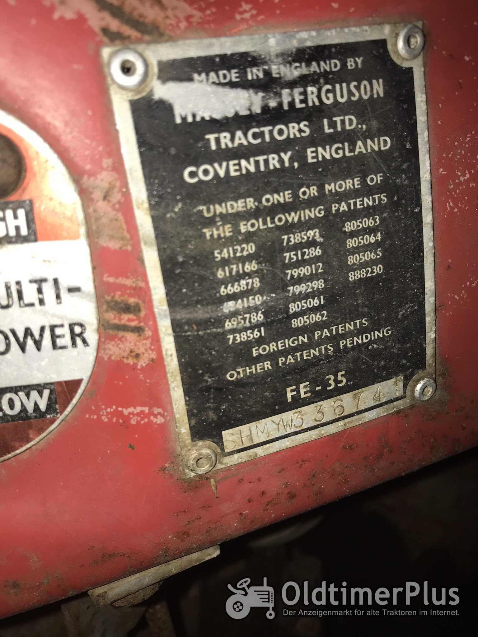 Massey Ferguson MF35 Multi-Power SUPER K model Foto 6