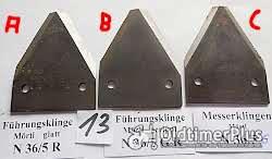 Mörtl, Stockey & Schmitz, Mähwerk, Fingerbalkenmähwerk, Schleppermähwerk. Ersatzteile, Messerklingen Foto 7