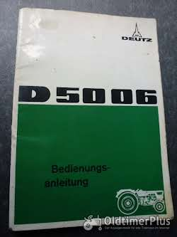 Literatur Deutz Bedienungsanleitung D 5006