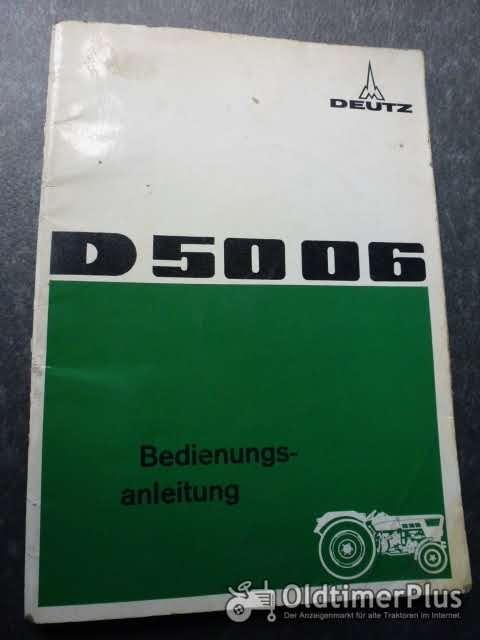 Deutz Bedienungsanleitung D 5006 Foto 1