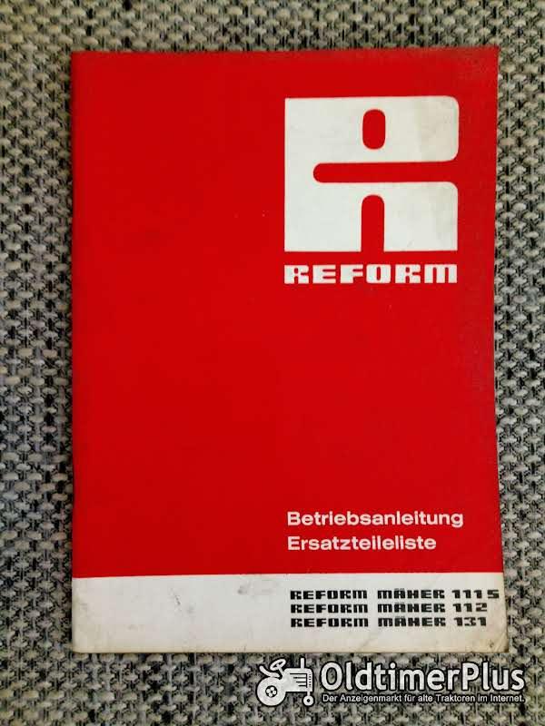 Reform Mäher 111S 112 131 Betriebsanleitung Ersatzteilliste Foto 1