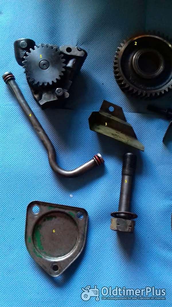 Deutz F3L812, D4005, Motorenteile Deutz F3L812, Riemenscheibe, Ölpumpe, Zahnrad Foto 1