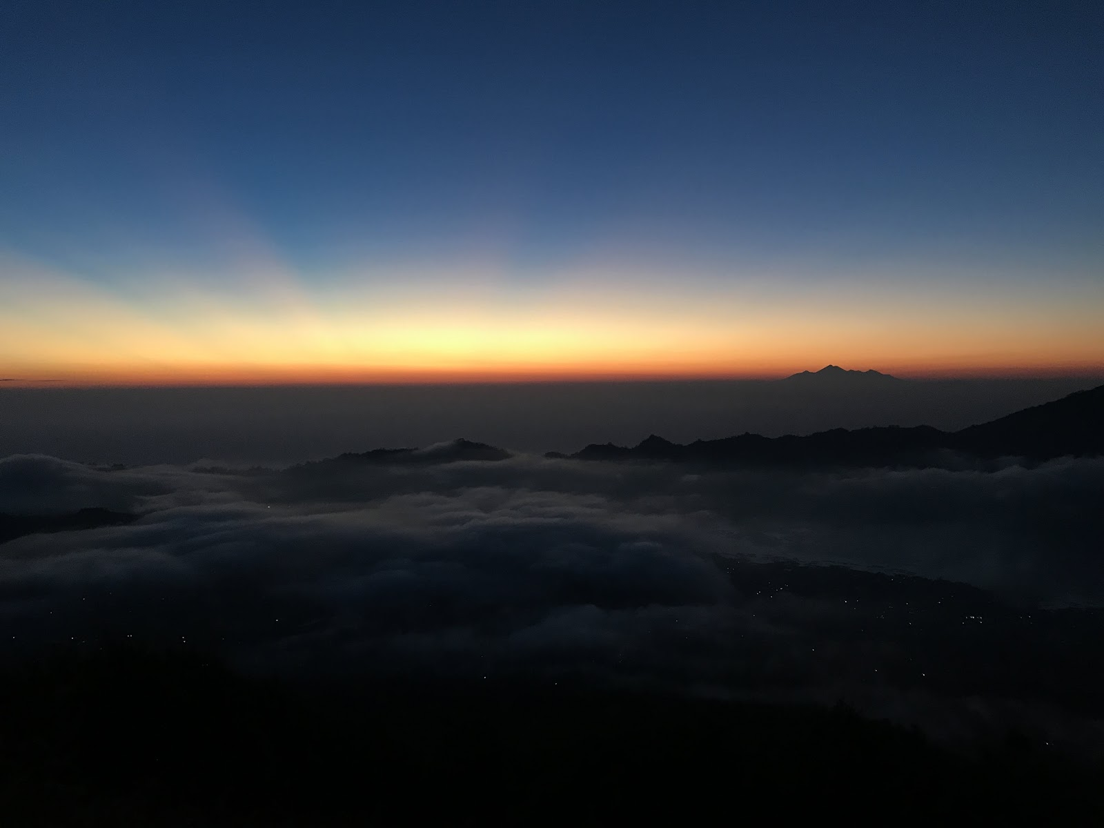 sunrise in mount batur