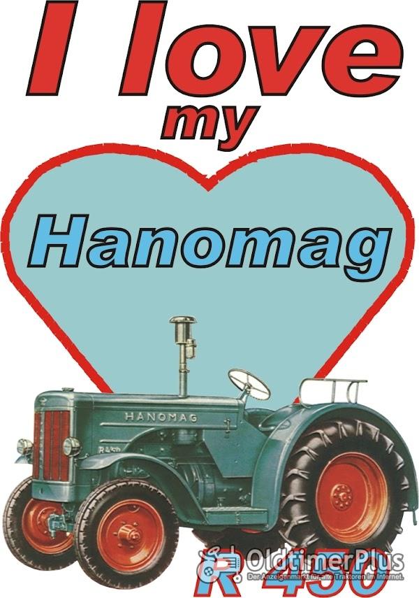 I love Hanomag R 450  T-Shirt Foto 1