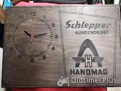 Hanomag Wanduhr Holz Eigenbau Foto 2